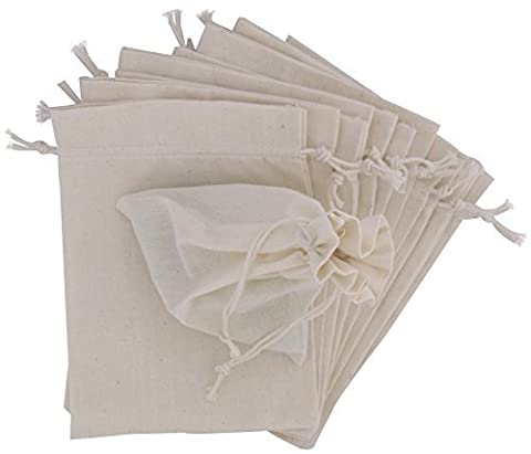 Baumwollbeutel mit Kordelzug (20x25, Weiss) (Cotton Schlaf Kleidung)