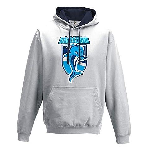 Sweatshirt Two Tone Hooded Jacket dolphin biancazzurri Ultras Cheer Football