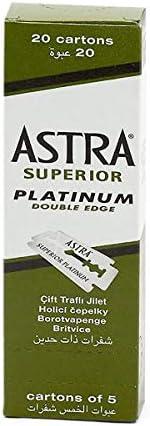 Astra Lamette da Barba Platinum, pacco de 100 pezzi