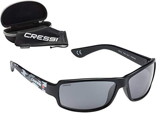 Cressi Ninja, Occhiali UltraFlex Sportivi da Sole Polarizzati con Protezione UV 100{43fde62a7dc2b37d657315be3004c5c6c6ce0b0347f27907c822260e9c983e1f} Unisex Adulto, Camou/Lenti Grigie, Taglia Unica