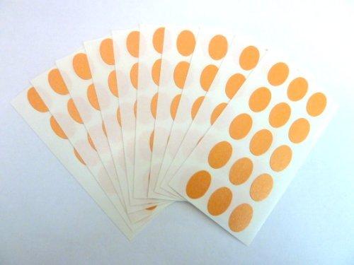 150 Etiquetas , 15x10mm Ovalado , Naranja , Código De Color Pegatinas , autoadhesivo Adhesivo Etiquetas Colores