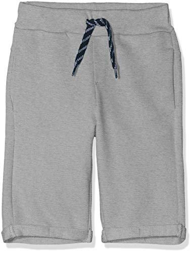NAME IT Jungen NKMVASSE SWE Long UNB J Shorts, Grau Grey Melange, (Herstellergröße: 128) (Teen Boy Shorts)