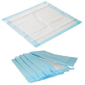 60 Stück Krankenunterlagen Größe 40 x 60 cm Einmalunterlagen Farbe: blau in Folie verpackt Medi-Inn (6 – lagig)