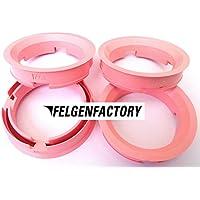 pink 4 Stück Zentrierringe 64.0 auf 52.1 rosa