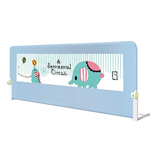 Bettgitter Sicherheitsgeländer für Kleinkinder, Unterstützt vertikales Heben, zusammenklappbares Sicherheitsbett, herunterklappbares Bettgestell für Cabrio-Kinderbetten, Kinder-Twin, Doppel-Elefante - Cabrio Kinderbett