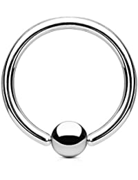 punkjewelry Titan Piercing Nombril Anneau BCR–1,6mm Titane
