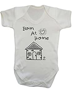 2854aa20f Born at home Mother's Day Present Baby Grow Vest bodysuit onesie (0 ...