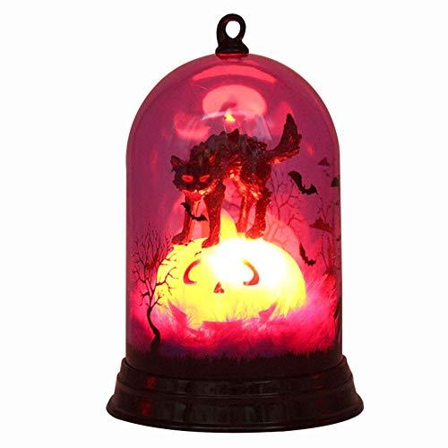 Bulary Halloween Kürbis Licht Kürbis Farbwechsel Lampe Laterne Prop Hexe Licht Szene Layout Dekoration Dekorative Nachtlicht (keine batterie)