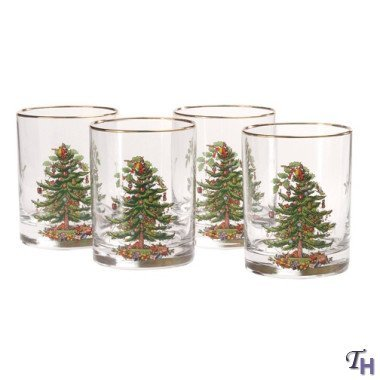 Spode Christmas Tree Glass Double Old Fashioneds Set(s) Of 4 by Spode Spode Christmas Tree Glass