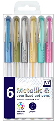 Anker International stationären Pearl/Met Gel Pen (6 Stück)