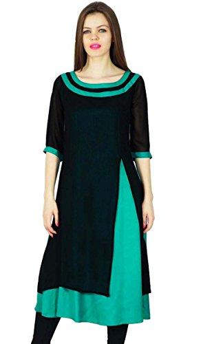 Phagun Designer Kurta Frauen Ethnische Kurti Top Tunika Rayon & Georgette-Kleid (Kurta Georgette)