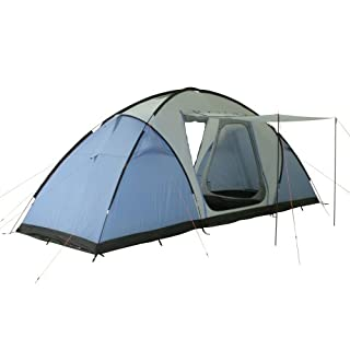 10T Outdoor Equipment 10T1739-4260181761435 Zelt Weston 6 Mann A-Vis Tunnelzelt 5000mm Campingzelt wasserdichtes Familienzelt Bodenwanne, Hellblau Personen-620x215x225 cm