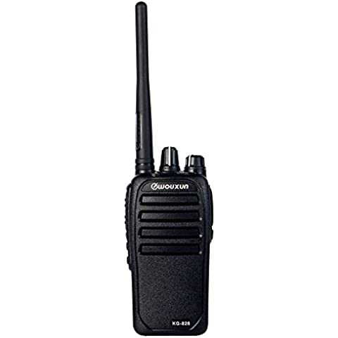 Jamón radio de dos vías WOUXUN KG-828 10W UHF 400-480MHz PMR446 16 canales 3200mAh 2-5 millas impermeable IP66 Cb Walkie-Talkie Transceptor, Black