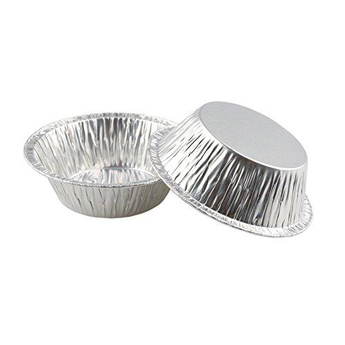 220 pezzi da cucina usa e getta cottura circolari acida dell'uovo tortiere Coppe Foil Tart Pie Pans,7CM