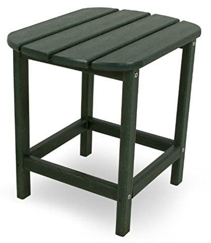 CASA BRUNO South Beach side table made of recycled Polywood® HDPE plastic lumber, dark green - unconditionally weather-resistant