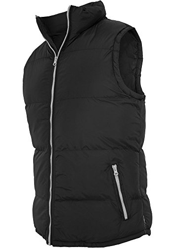 Urban Classics TB299 Contrast Bubble Vest Piumino Smanicato Uomo Regular Fit Black Grey
