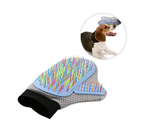 ouken Haustier-Massagehandschuhe, für Hunde und Fellhaare, Gummi, zum Aufheben von Haaren und...