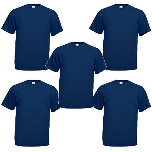 Fruit Of the Loom Mens T-Shirts Value Weight PACK OF 5