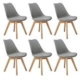 DORAFAIR Pack de 6 sillas escandinava Estilo nórdico Silla de Comedor,Tulip Comedor/Silla de Oficina con Las...