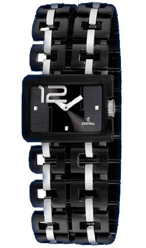 Festina f16302/2–Orologio con cinturino in resina per donna, colore: nero/grigio