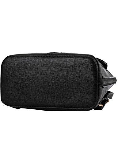 Menschwear PU Zaino Satchel Daypack sacchetto di scuola Arancione Nero