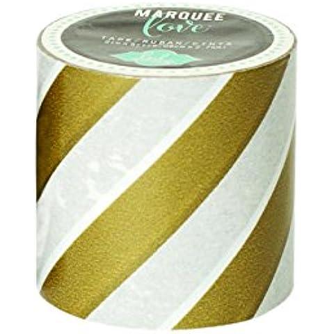 American Crafts Heidi Swapp carpa amor cinta adhesiva de 5,08 cm de la hoja de oro de la raya, 9
