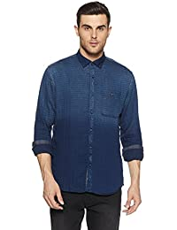LP Jeans By Louis Philippe Men's Printed Slim Fit Cotton Casual Shirt