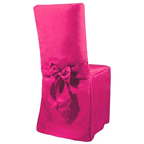 Smartfox Stuhlhusse Stuhlbezug Überzug mit Schleife in Pink