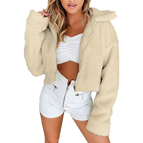 Daysing Femmes Fluffy Manches Longues Fausse Fourrure LéOpard Demi Zip Sherpa Polaire Pull Chandail Fuzzy Sweatshirts Poche
