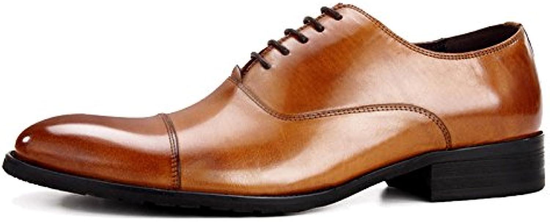 NIUWJ Hombres Empresa/Negocio Casual Cómodo Encaje Moda Zapatos De Cuero -