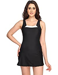 Nidhi Munim Women's Black A Line Swimdress