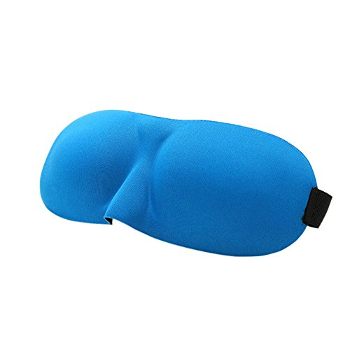 Soft Travel Sleep Rest Augenklappe Schlafmaske 3D Cover Augenbinde Eye Patch blau