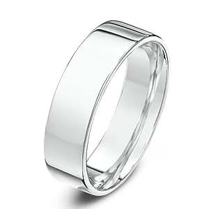 Theia Heavyweight Flat Court Shape 5 mm Palladium 950 Wedding Ring - Size W