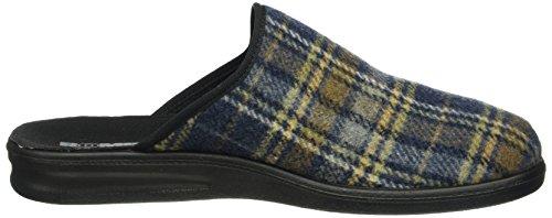 Romika Uomo Presidente 124 Pantofole Multicolore (blu-combi 515)