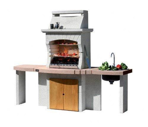 barbecue sunday modello tangeri crystal in muratura, funziona sia a legna che a carbonella.