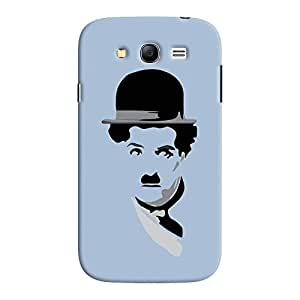 ColourCrust Samsung Galaxy Grand Neo Plus Mobile Phone Back Cover With Charlie Chaplin Minimal Style - Durable Matte Finish Hard Plastic Slim Case