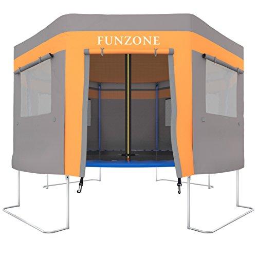 Ultrasport Trampolinzelt für Gartentrampolin Ultrasport Jumper Orange-Grau (Modelle ab Mai 2014) / Trampolinspielzelt, wie ein Trampolindach, zum Verstecken, Toben, macht das Trampolin zur Höhle, 430 cm