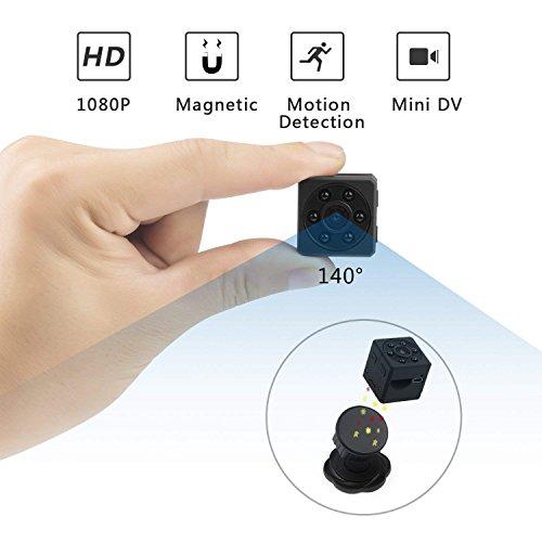 Mini Kamera OASMU Full HD 1080P Surveillance Kamera Tragbare Überwachungskamera Mikro Nanny Cam mit mit Nachtsicht und Bewegungserkennung,unterstützt 32GB TF-Karten für Innen und Aussen