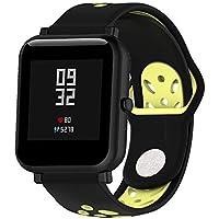 Hunpta@ Uhrenarmband für Huami Amazfit Bip Watch Sport-Doppelfarbe-Weiches Silikon-Zusatz-Uhrenarmband-Armband