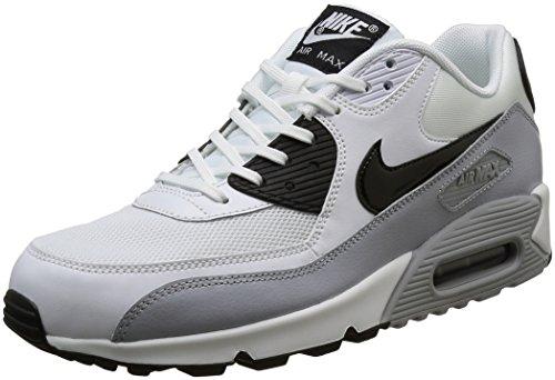Nike Air Max 90 Essential, Baskets Basses Femme Blanc (White/Black/Wolf Grey)