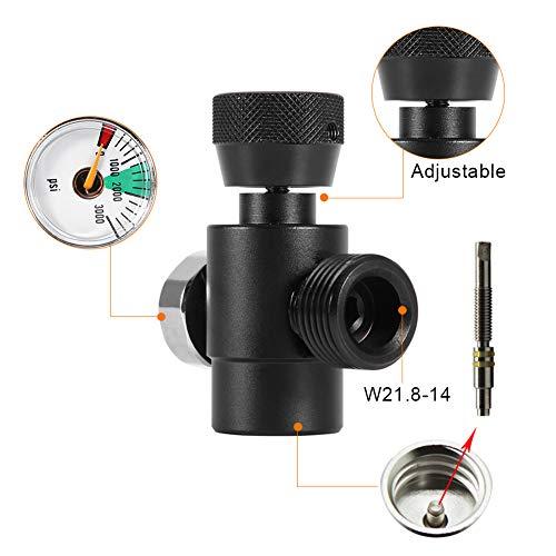 Jeffergarden CO2-Füllbehälter-Nachfülladapter-Anschlusskit für SodaStream (#1: Black Adapter with Meter)