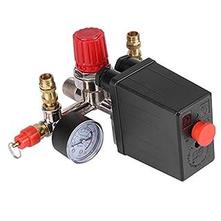 Druckschalter Kompressor-Sicherheitsventil-Kaliber Druck mit Dimmer-Kontrolle Druck 120psi socialme-eu