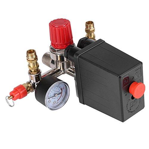 Druckschalter Kompressor-Sicherheitsventil-Kaliber Druck mit Dimmer-Kontrolle Druck 120psi socialme-eu -