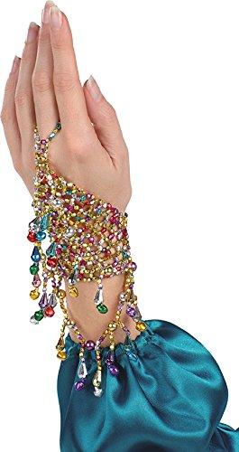 Handschmuck-Orientalisch in bunt | Einheitsgröße Erwachsene | Handschmuck für Bauchtanz-Kostüme (Bauchtanz-kostüme-accessoires)
