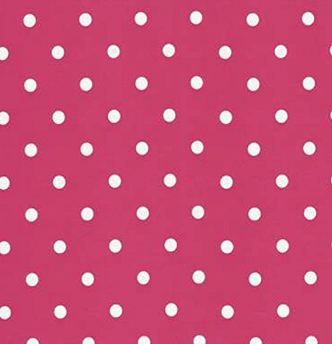 Klebefolie Möbelfolie - Pink Punkte weiß - Dots - 45 x 200 cm - Dekorfolie Vintage Retro Look - selbstklebende Folie - Bastelfolie