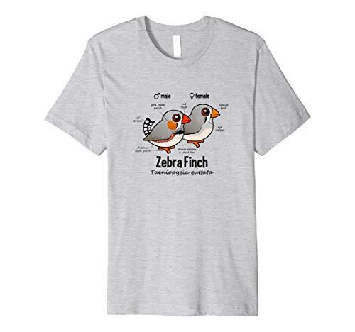 Cute Cartoon Zebra Finch Statistiken Bird T-Shirt
