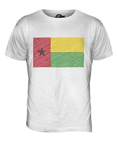 CandyMix Guinea-Bissau Kritzelte Flagge Herren T Shirt Weiß