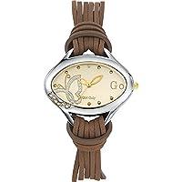 GO Girl Only 696791 - Reloj analógico de cuarzo para mujer con correa de piel, color marrón de GO Girl Only