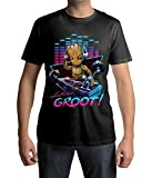 1/4 Mile KultTM T-Shirt DJ Baby Groot Guardians of The Galaxy Large Design (L, Black)