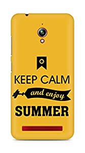 Amez Keey Calm and Enjoy Summer Back Cover For Asus Zenfone Go ZC500TG